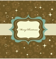 christmas background retro vector image