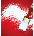 Christmas background with snowflakes and snow brus vector image