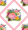 Floral and decorative frame design vector image