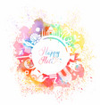 postcard for the holiday of holi in india vector image