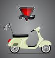 retro scooter vector image