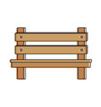 wooden park chair icon vector image