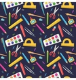 Seamless pattern of stationery for school vector image