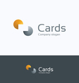 C cards logo vector image