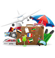 old suitcase for travel 04 vector image vector image