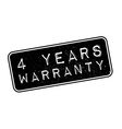 4 years warranty rubber stamp vector image