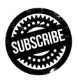 subscribe rubber stamp vector image