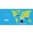 flat concept of World travel and tourism vector image