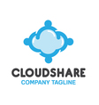 Share Cloud Design vector image