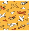 Seamless pattern of plane vector image