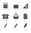Office tools icons vol 2 vector image