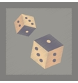 flat shading style icon dice lucky vector image
