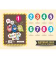 anniversary kids birthday card template vector image