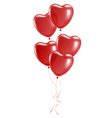 Balloons in the shape of heart vector image