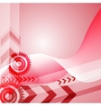 Colored arrow abstract background vector image