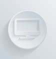 paper flat icon monitor vector image