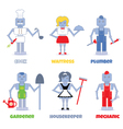 robot professions vector image