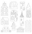 Set of doodle houses vector image