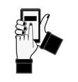 smartphone money transfer vector image