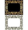 Vintage victorian frames vector image