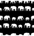 white elephants walking black pattern vector image