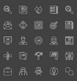employment line icons vector image