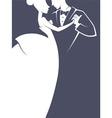 Wedding dance vector image