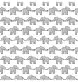 Happy elephants vector image
