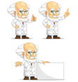 Scientist or Professor Customizable Mascot 6 vector image vector image