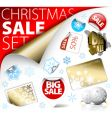 set of Christmas discount labels vector image vector image
