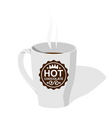 cup with hot chocolate vector image vector image