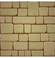 Stone Block Wall - Yellow vector image