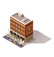 isometric building vector image vector image