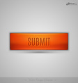 Orange web button with shadow on the gay vector image vector image