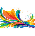 colorful abstract frame element on white vector image