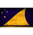 Flags Tokelau with dirty paper texture vector image