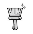 grayscale broom sweep equipment to clean house vector image