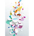 Abstract background with paper flower - vertical vector image vector image