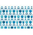 vivid blue color abstract tulip flower motif vector image vector image
