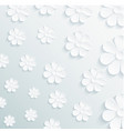 seamless pattern daisy on gray background vector image