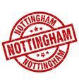 nottingham red round grunge stamp vector image