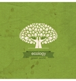 Ecology Tree and hand in the form of a tree trunk vector image