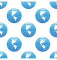 Globe sign pattern vector image