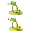 smart snake vector image vector image