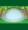beautiful woodland scene vector image