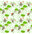 bunnies and apples vector image