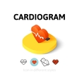 Cardiogram icon in different style vector image