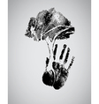 concept of hand tree vector image