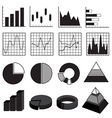 Graphs Charts Bars and Diagrams Data Element Set vector image