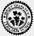 Grunge stamp quality label for Italian wine vector image